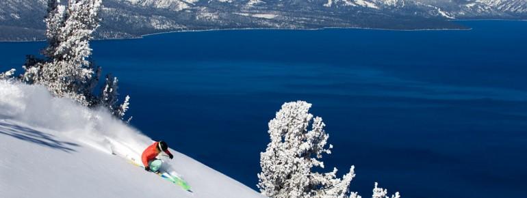 Beautiful panoramic views on Lake Tahoe in California