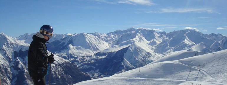 Panorama im Skigebiet Pyrénées - Luz Ardiden