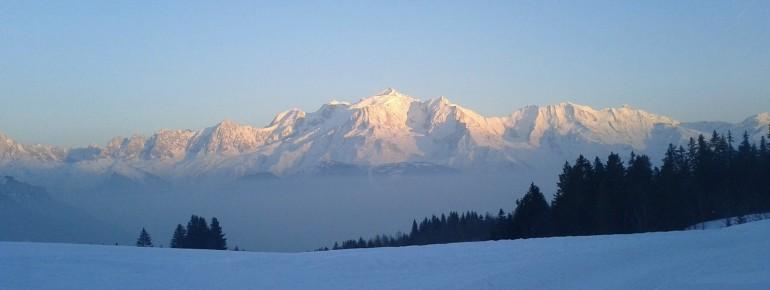 Der Mont Blanc ist der höchste Berg Europas