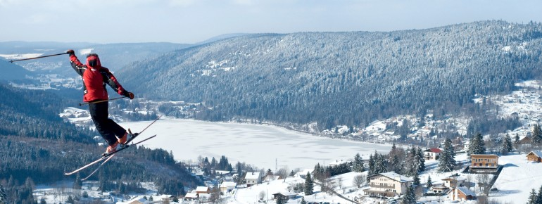 Blick ins Skigebiet Gérardmer
