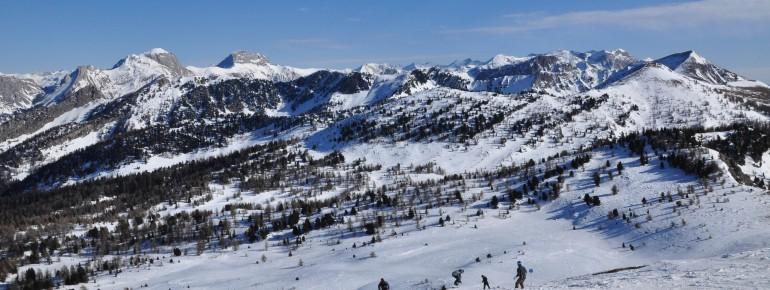 Blick ins Skigebiet Montclar
