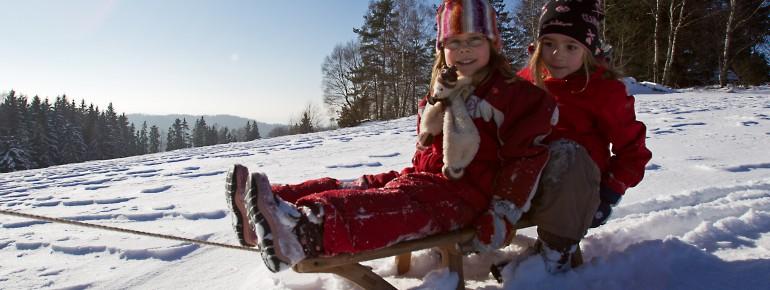 Der Winter im Oberpfälzer Wald ist ein Hit für Kids