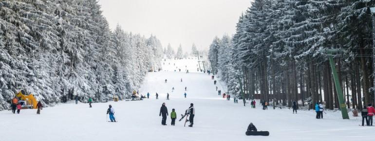 Das Skigebiet am Erbeskopf, dem höchsten Berg in Rheinland-Pfalz