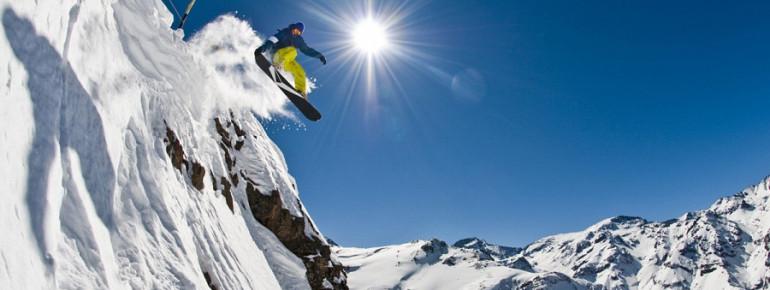 Freeriden in Valle Nevado in Chile