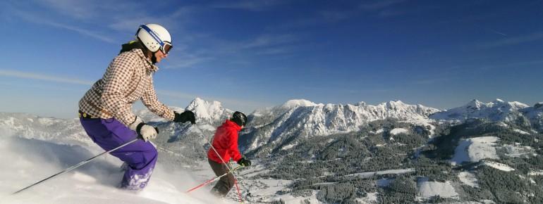 Über 50 Pistenkilometer erwarten Skifahrer im Tannheimer Tal