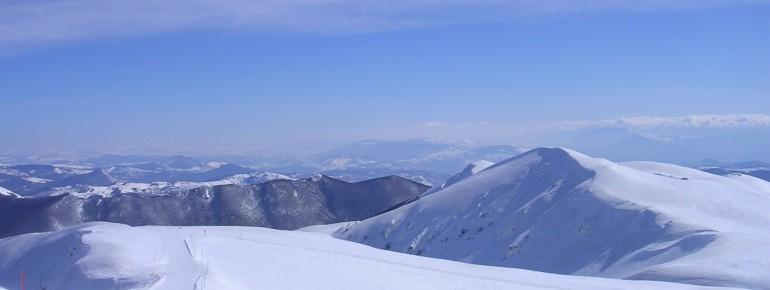 Ausblick am Monte Pratello im Skigebiet Alto Sangro