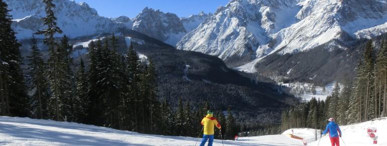 Das Hochpustertal beeindruckt mit dem Bergpanorama der Sextner Dolomiten