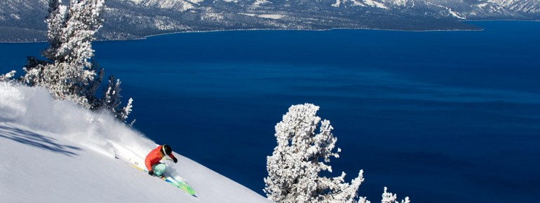 Skifahren am Lake Tahoe ist ein besonderer Genuss