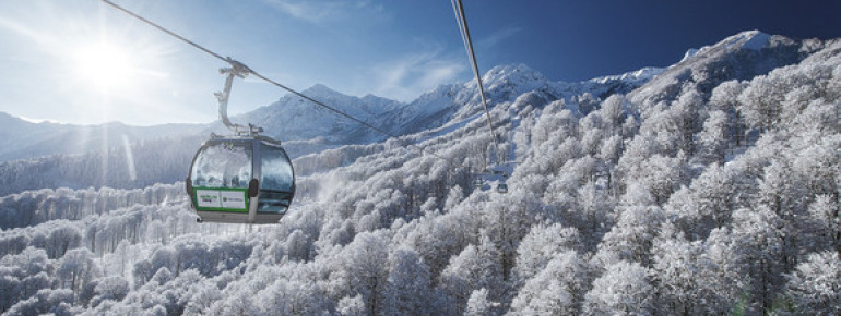 Many of the lifts in Russian ski resorts were made by Austrian companies.