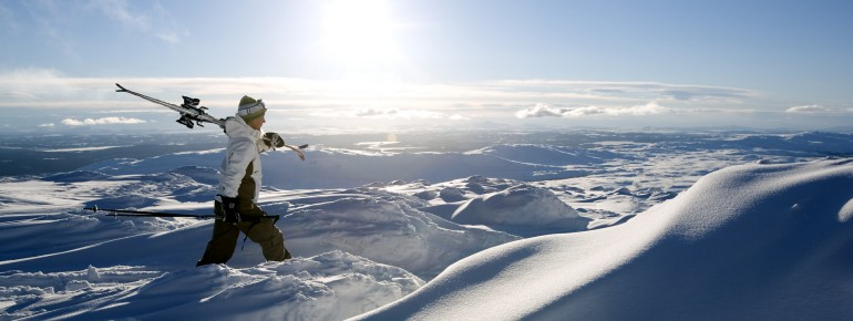 Skifahren mit Weitblick im Skigebiet Åre