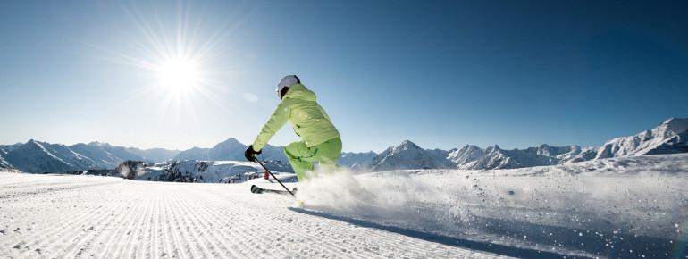 Skifahren am Rastkogel